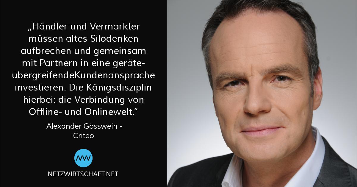 Netzwirtschaft Interview mit Alexander Gösswein, Criteo