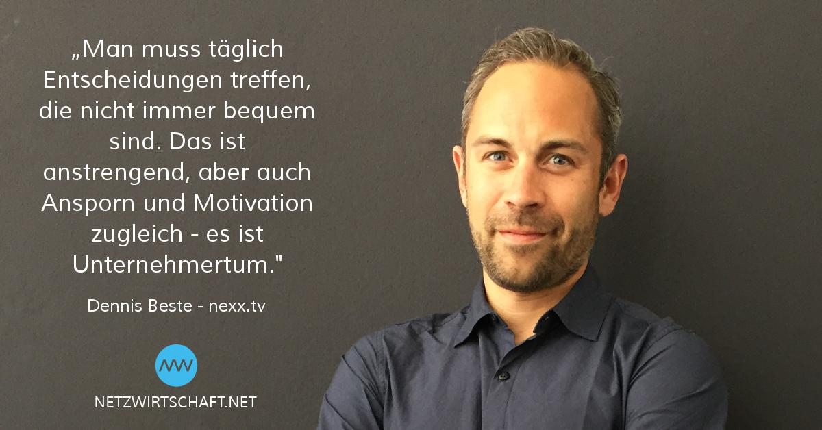 Netzwirtschaft-Interview Dennis Beste