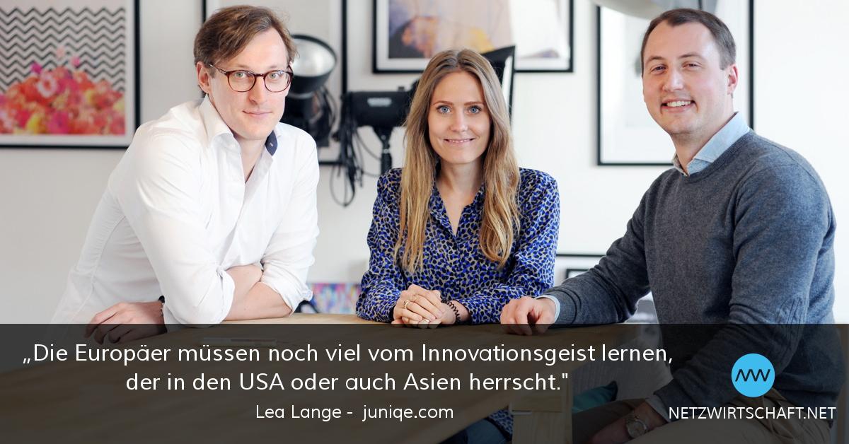 Netzwirtschaft Interview mit Lea Lange, Juniqe
